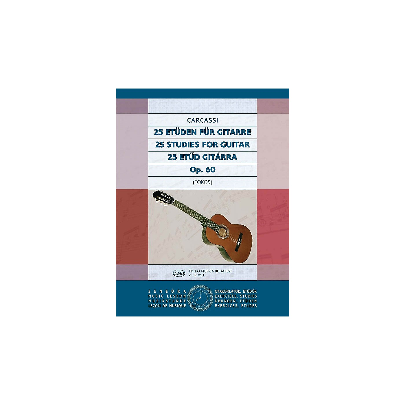 Editio Musica Budapest 25 Studies, Op. 60 (Guitar Solo) EMB Series Composed by Matteo Carcassi thumbnail