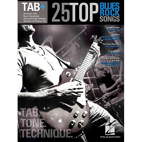 Hal Leonard 25 Top Blues/Rock Songs - Tab Tone & Technique (Tab+) thumbnail