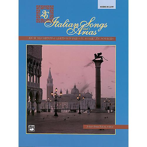Alfred 26 Italian Songs and Arias Book (Medium Low) thumbnail