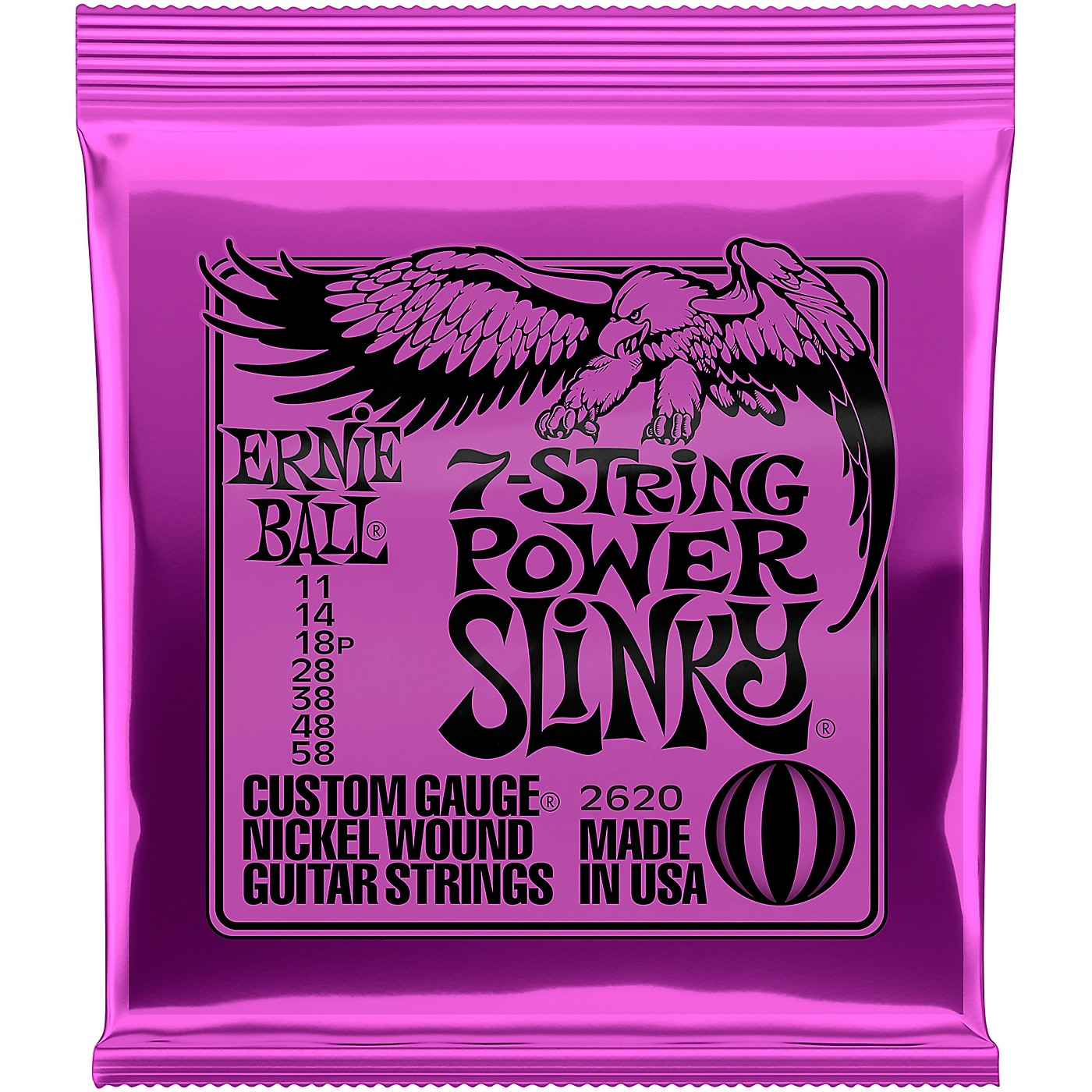 Ernie Ball 2620 Nickel 7-String Power Slinky Electric Guitar Strings thumbnail