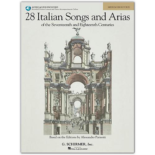 G. Schirmer 28 Italian Songs And Arias for Medium High Book/Online Audio thumbnail