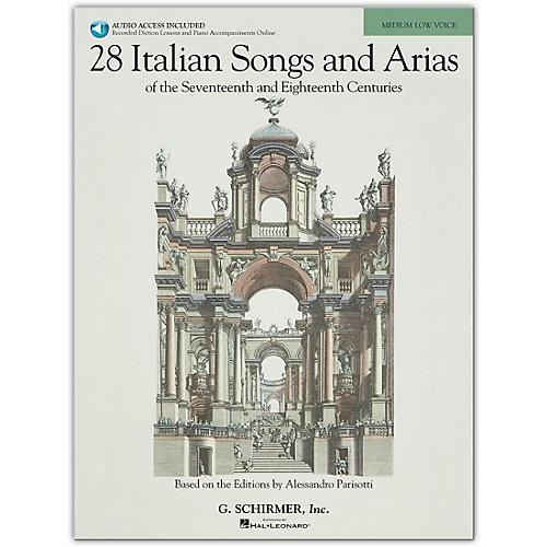 G. Schirmer 28 Italian Songs And Arias for Medium Low Book/Online Audio thumbnail
