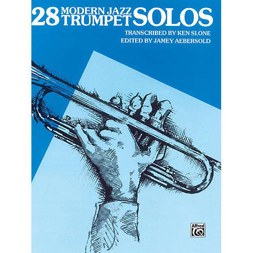 Alfred 28 Modern Jazz Trumpet Solos Book thumbnail