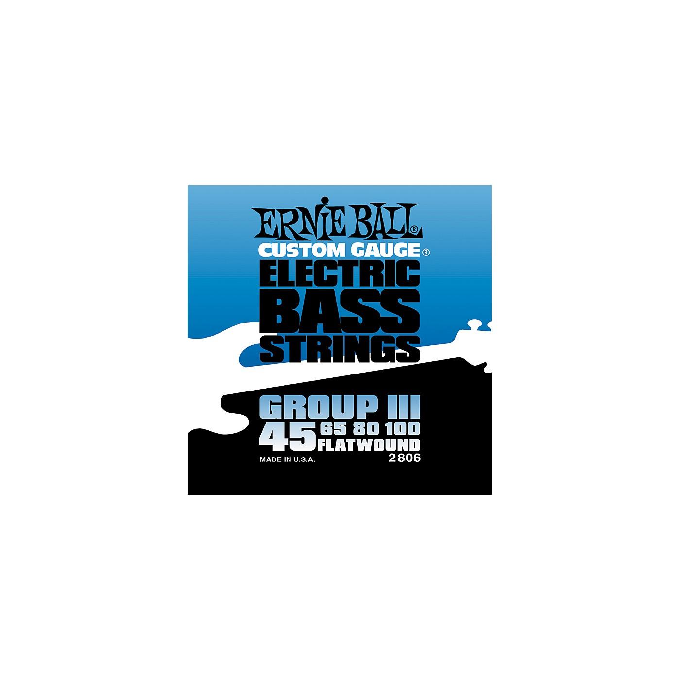 Ernie Ball 2806 Flat Wound Group III Electric Bass Strings thumbnail