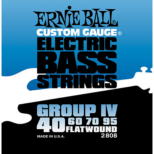 Ernie Ball 2808 Flat Wound Group IV Electric Bass Strings thumbnail