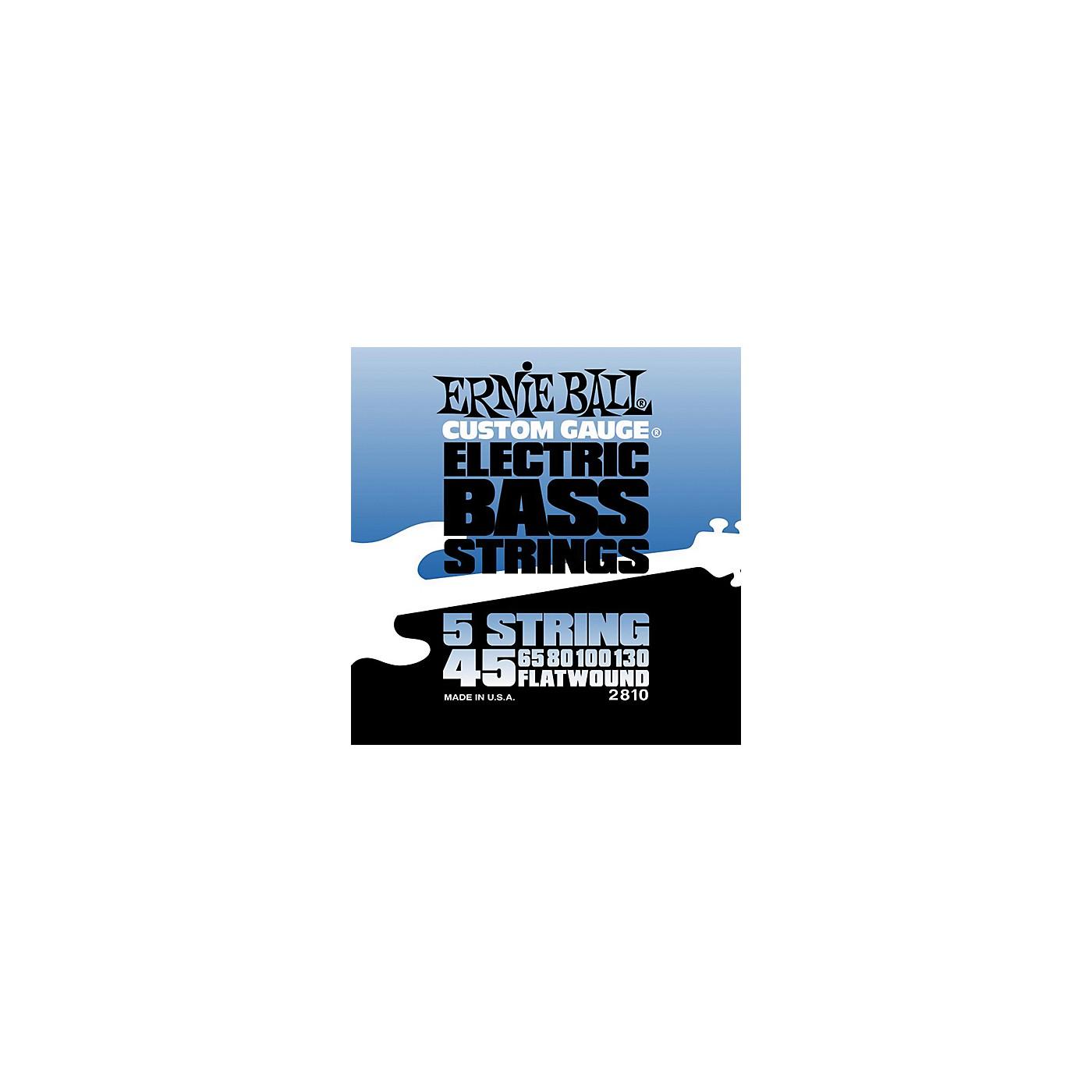 Ernie Ball 2810 Flatwound 5-String Bass Strings Set thumbnail