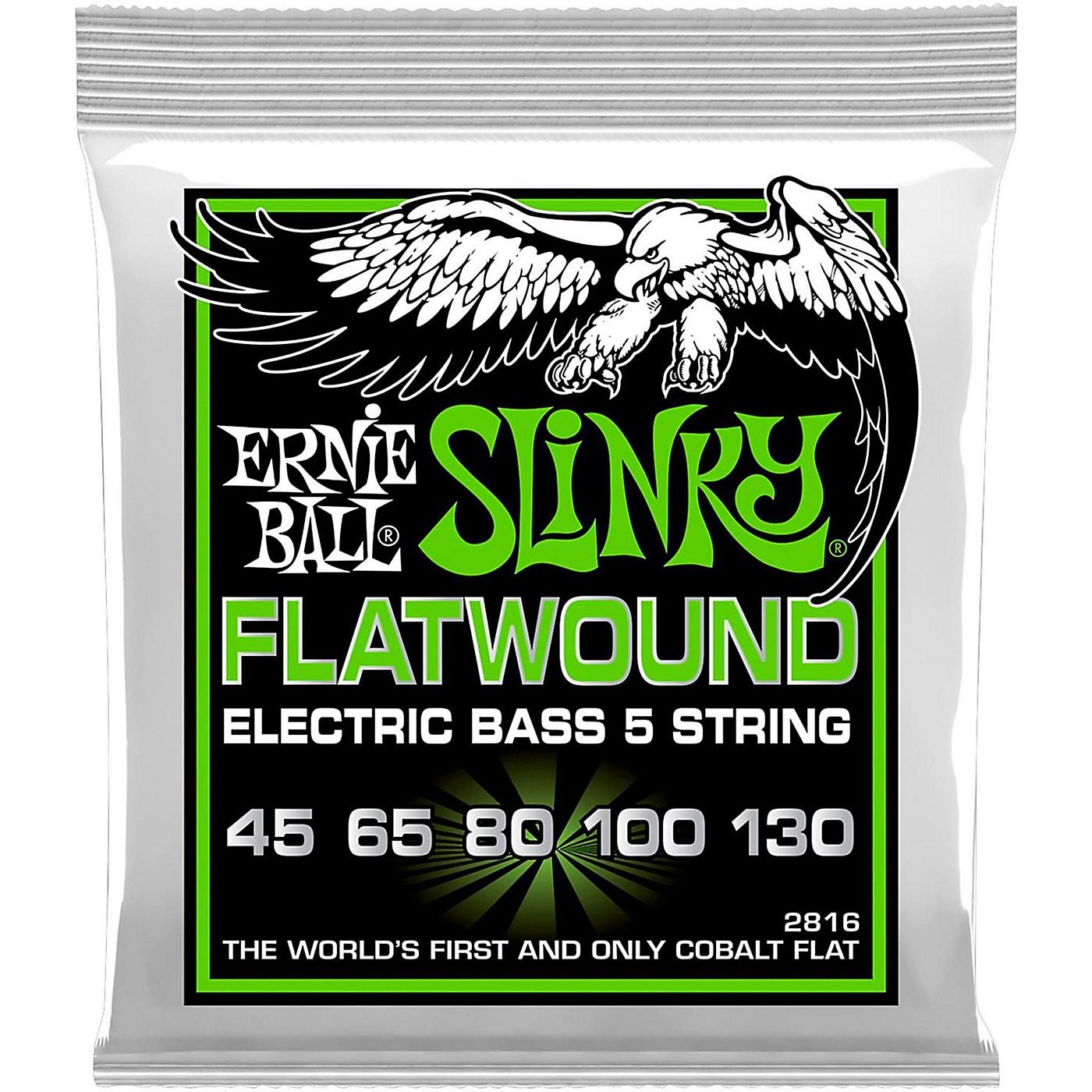 Ernie Ball 2816 Slinky Flatwound 5-String Bass Strings thumbnail
