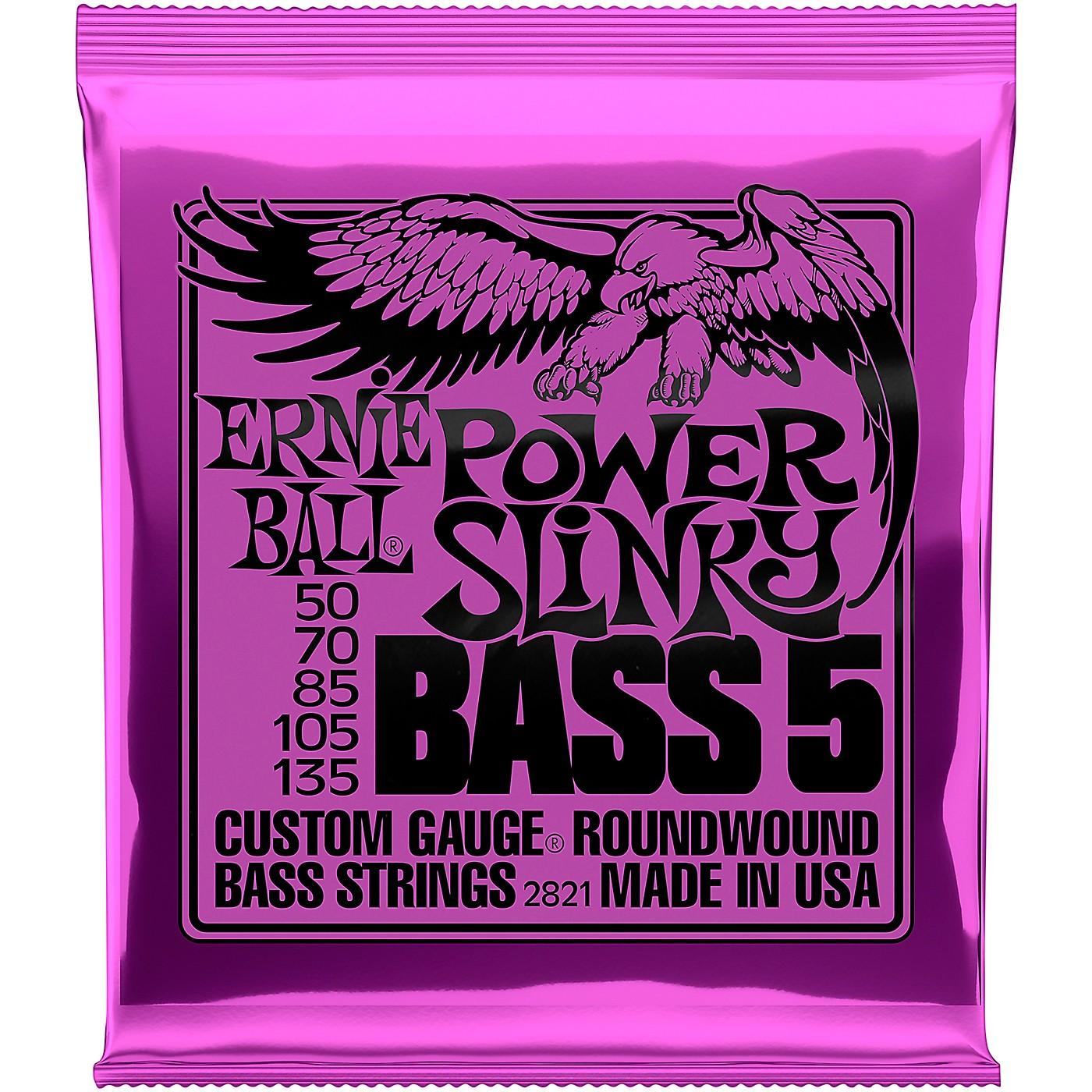 Ernie Ball 2821 Power Slinky 5-String Bass Strings thumbnail