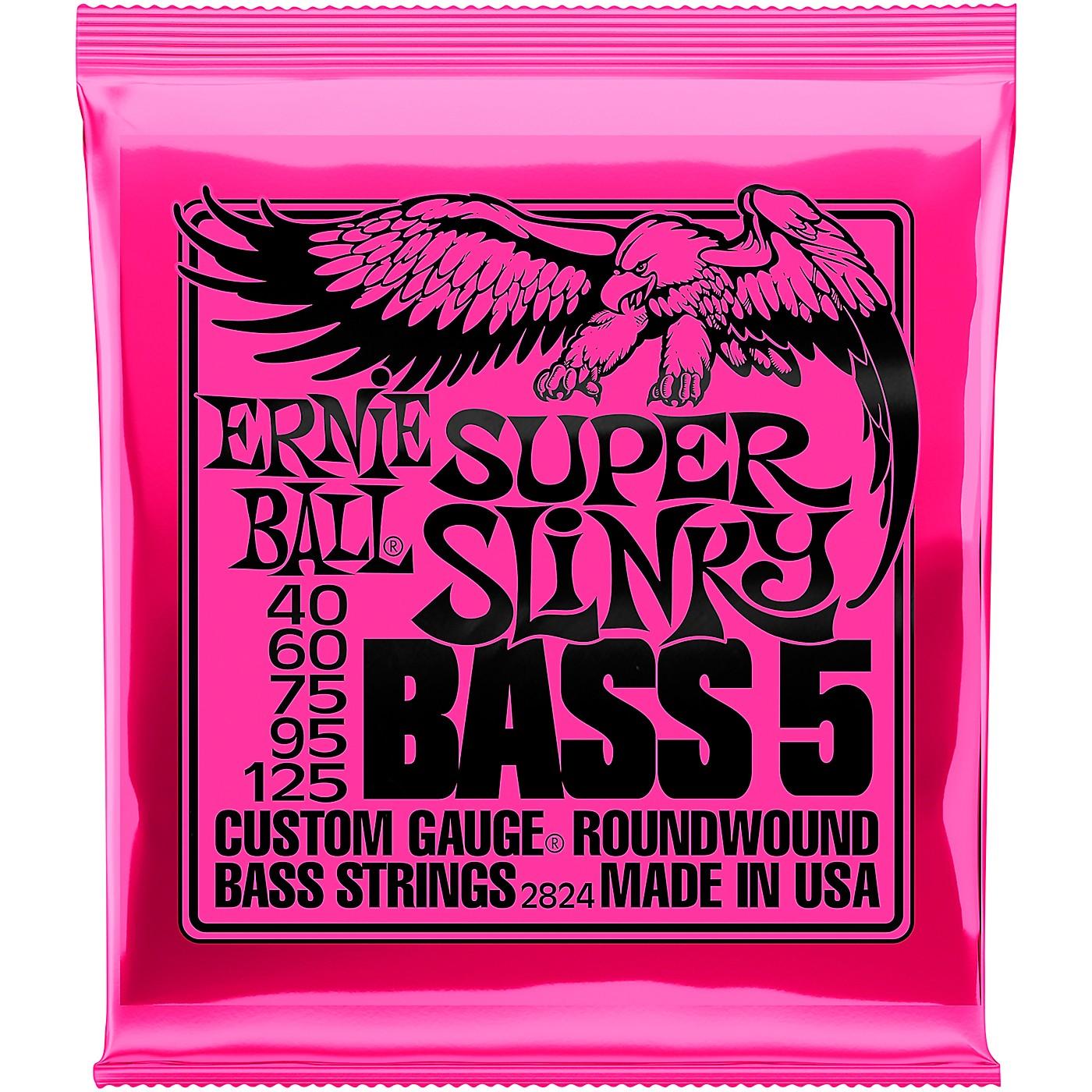 Ernie Ball 2824 Super Slinky 5-String Bass Strings thumbnail
