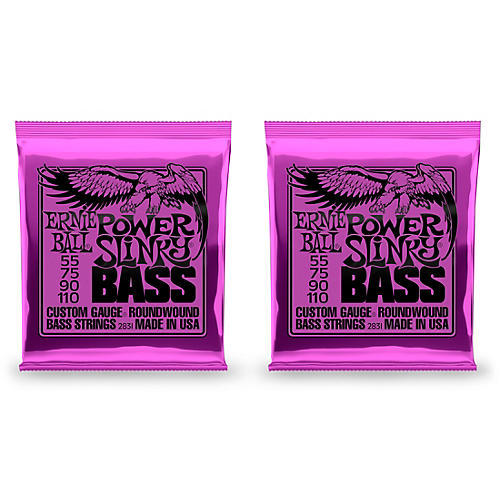 Ernie Ball 2831 Slinky Round Wound Power Bass Strings 2 Pack thumbnail