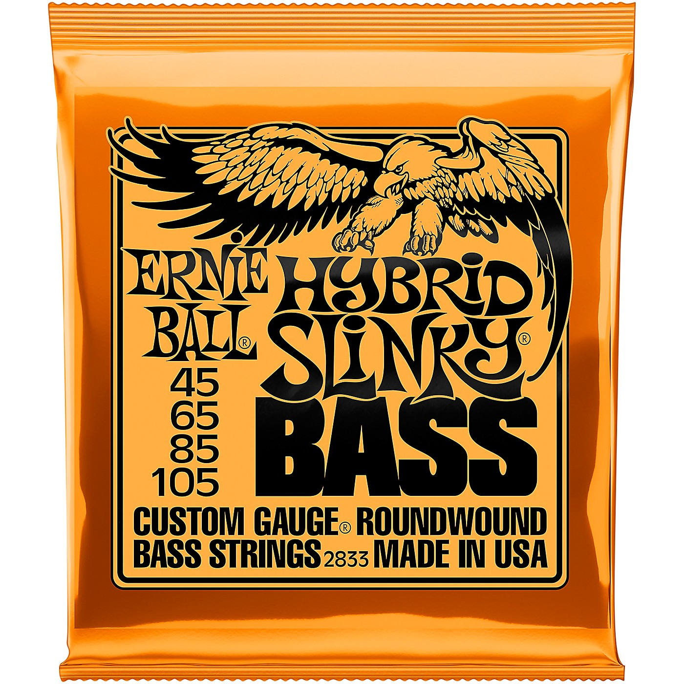 Ernie Ball 2833 Hybrid Slinky Roundwound Bass Guitar Strings thumbnail