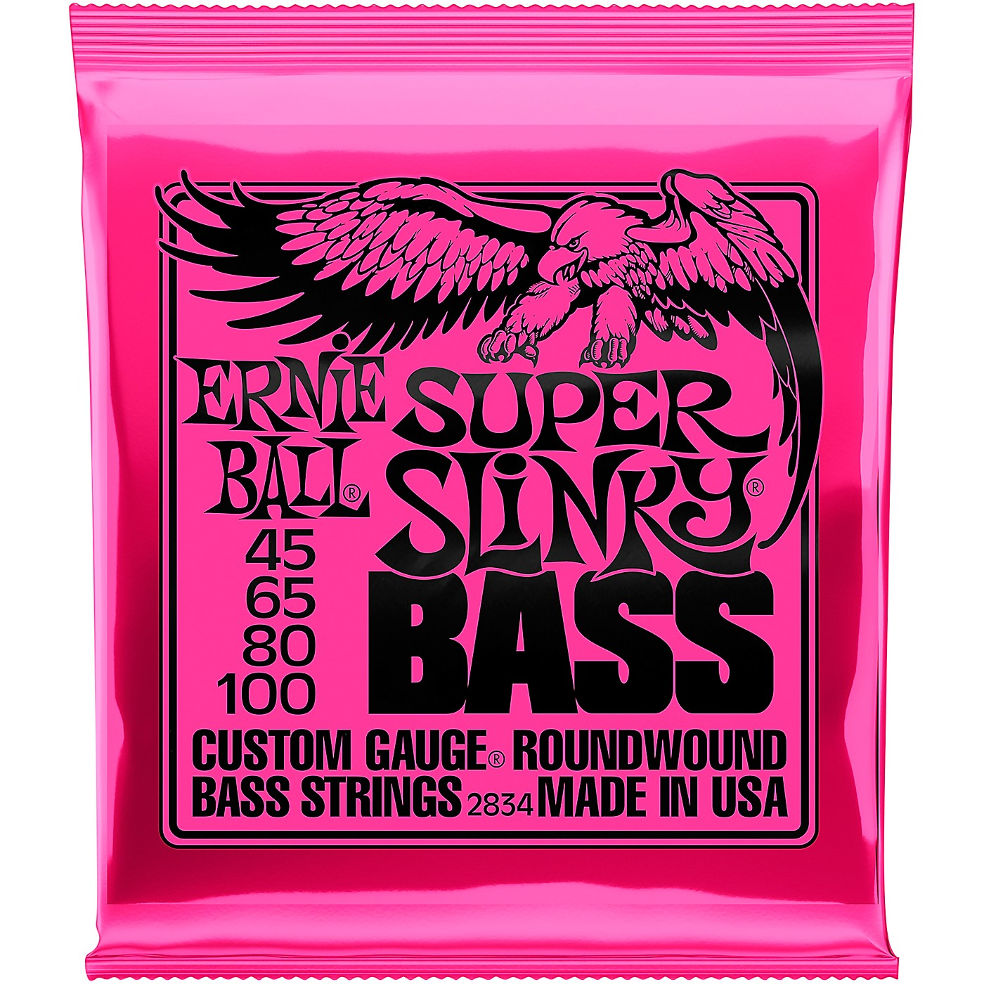 Ernie Ball 2834 Super Slinky Roundwound Bass Strings thumbnail