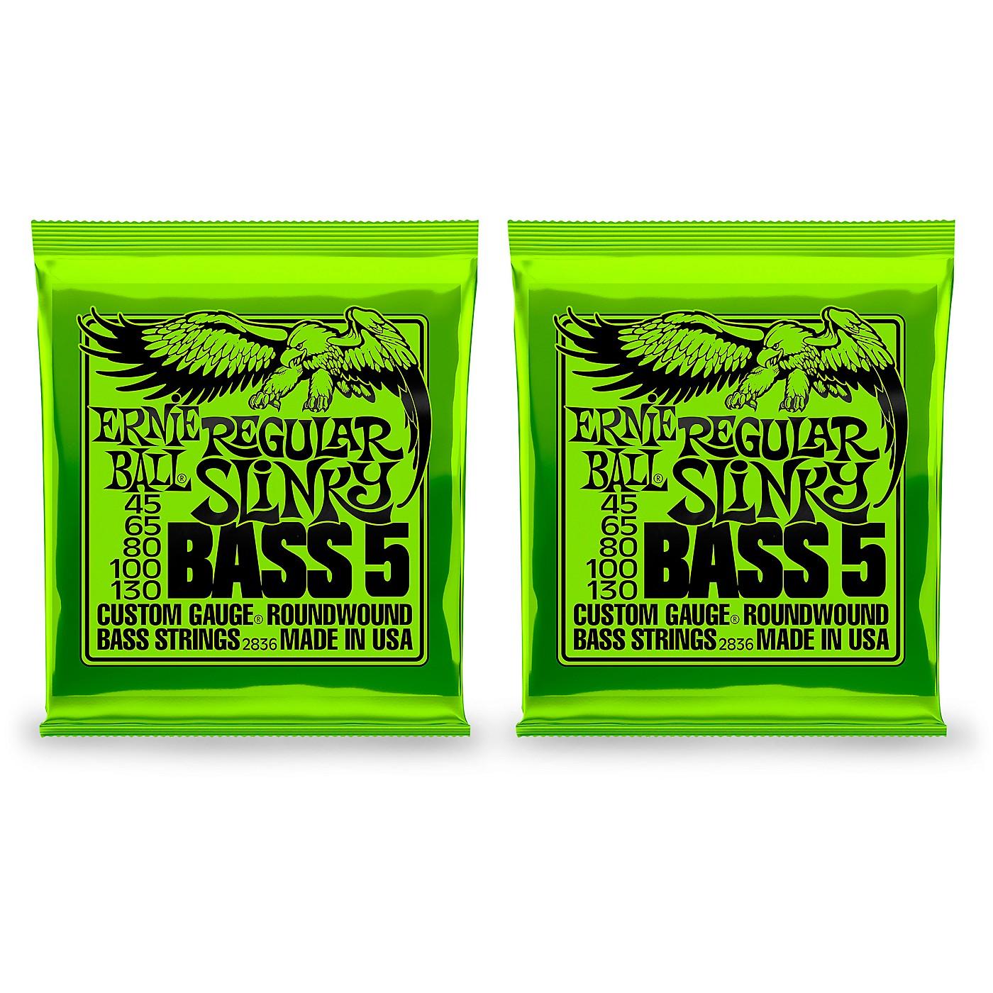Ernie Ball 2836 Regular Slinky 5-String Bass Strings 2 Pack thumbnail