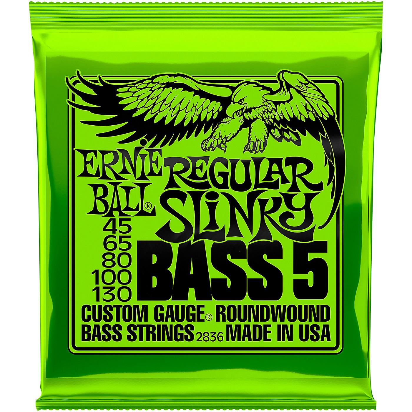 Ernie Ball 2836 Slinky 5-String Bass Strings thumbnail