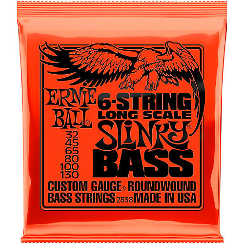 Ernie Ball 2838 Slinky Nickel Round Wound 6-String Electric Bass Strings thumbnail