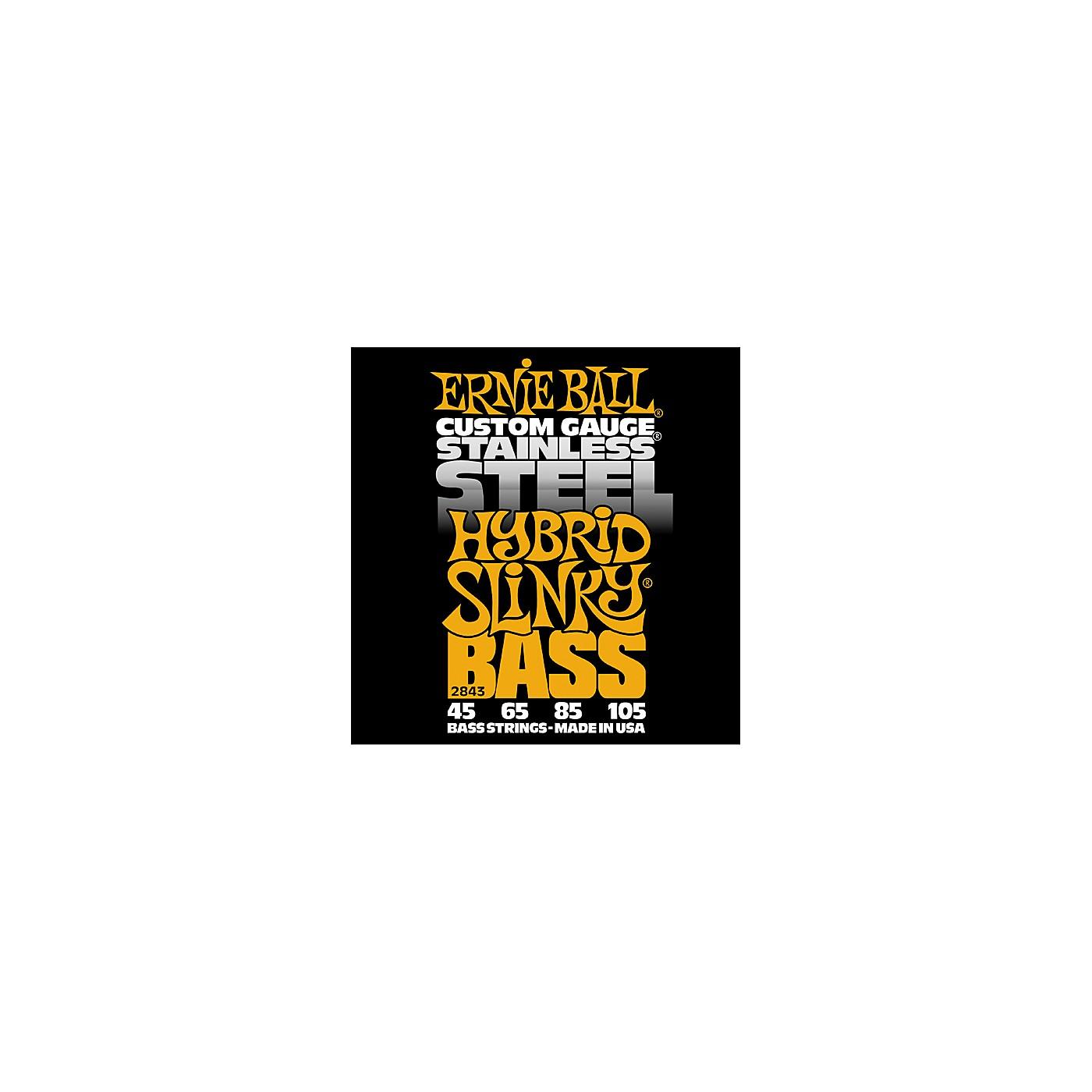 Ernie Ball 2843 Hybrid Slinky Stainless Steel Bass Strings thumbnail
