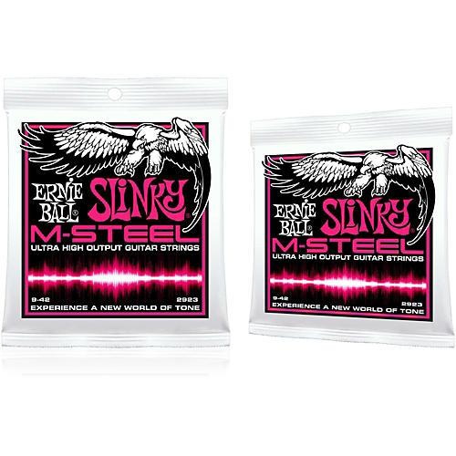 Ernie Ball 2923 M-Steel Super Slinky Electric Guitar Strings 2-Pack thumbnail