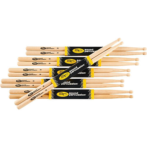 Sound Percussion Labs 2B Drumsticks, 6-Pack thumbnail