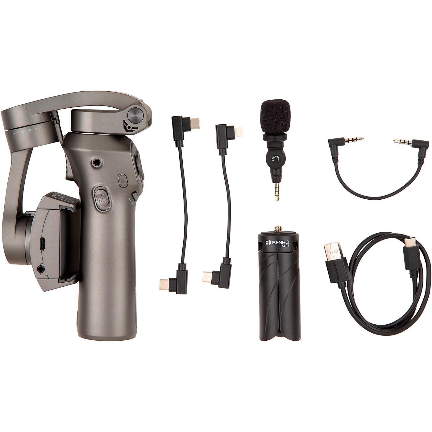 BENRO 3 Axis Handheld Gimbal for Smartphone with Saramonic SmartMic thumbnail