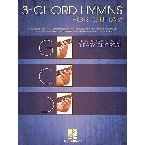 Hal Leonard 3-Chord Hymns For Guitar - Play 30 Hymns With 3 Easy Chords guitar songbook thumbnail