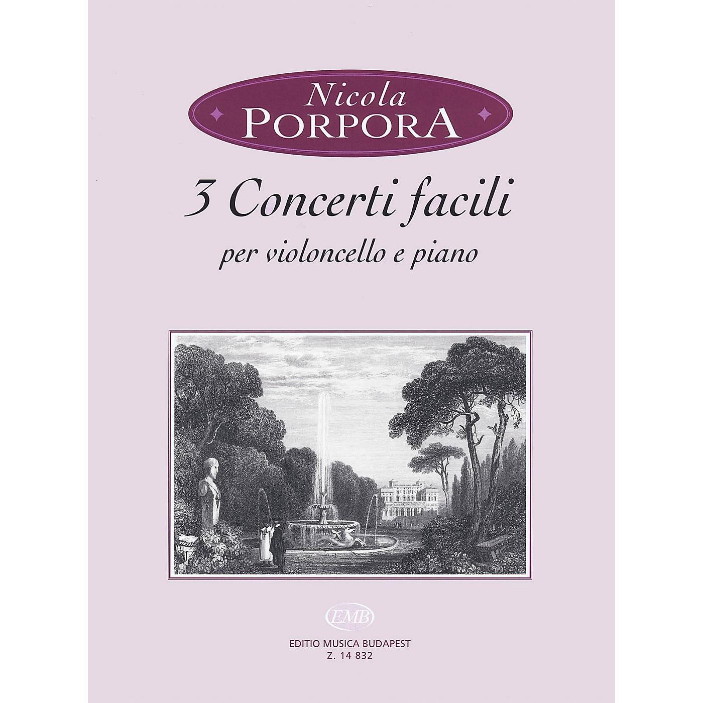 Editio Musica Budapest 3 Concerti Facili (Cello and Piano) EMB Series Softcover thumbnail