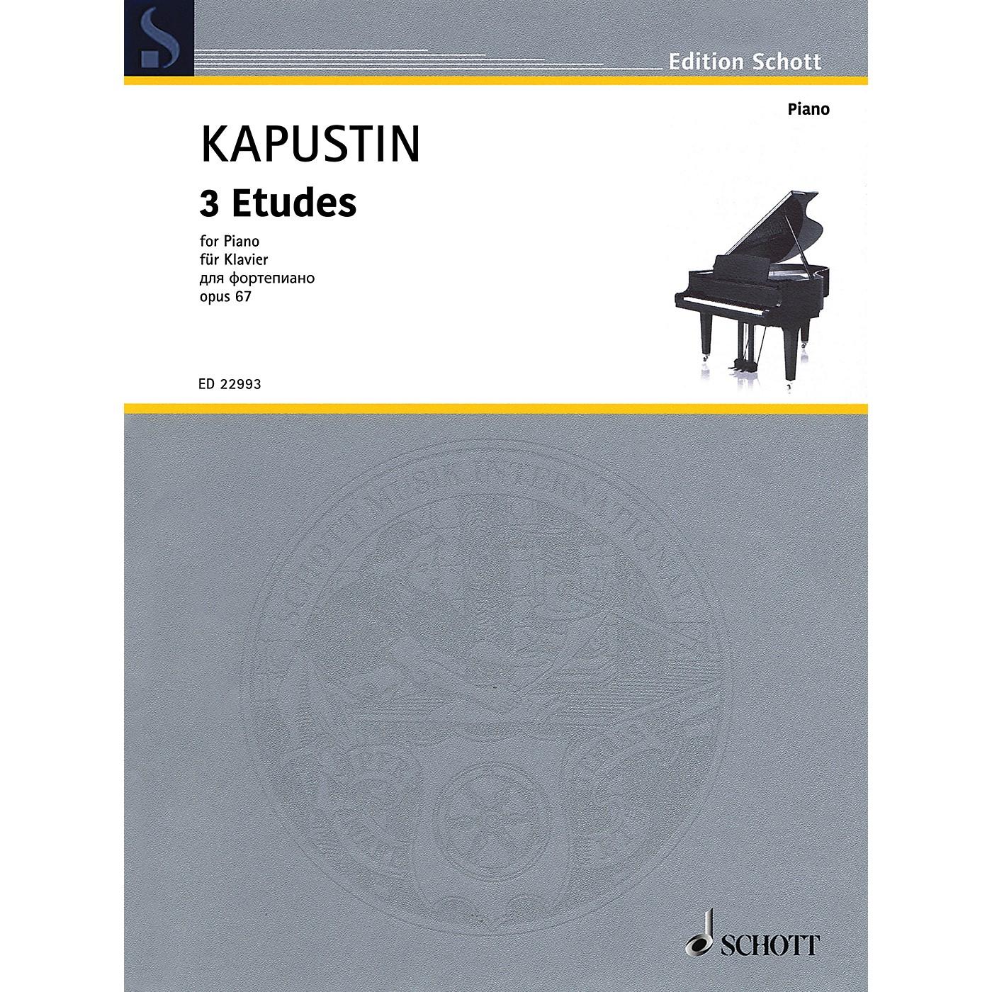 Schott 3 Etudes Op. 67 Piano Solo by Kapustin thumbnail