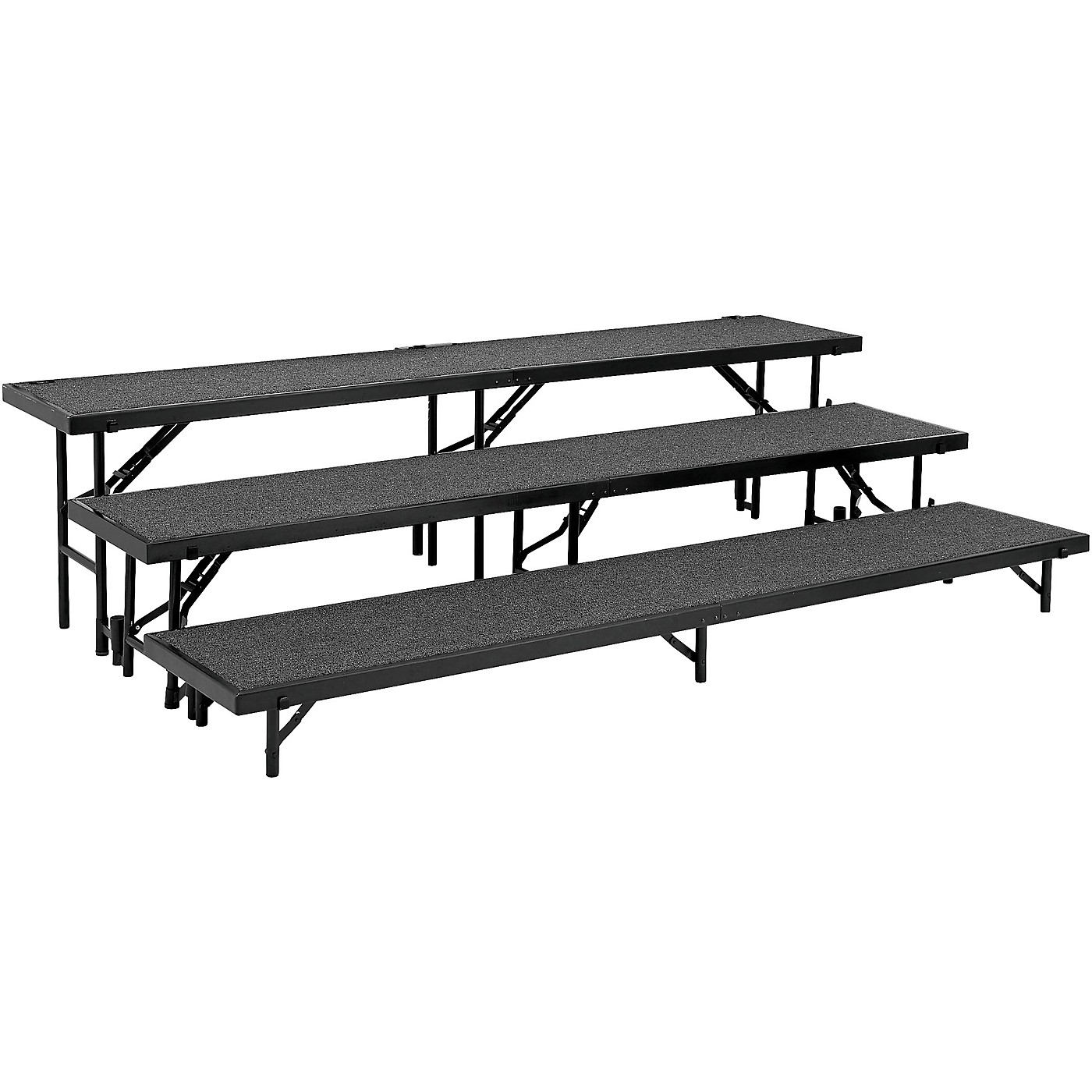 National Public Seating 3 Level Straight Standing Choral Riser (18