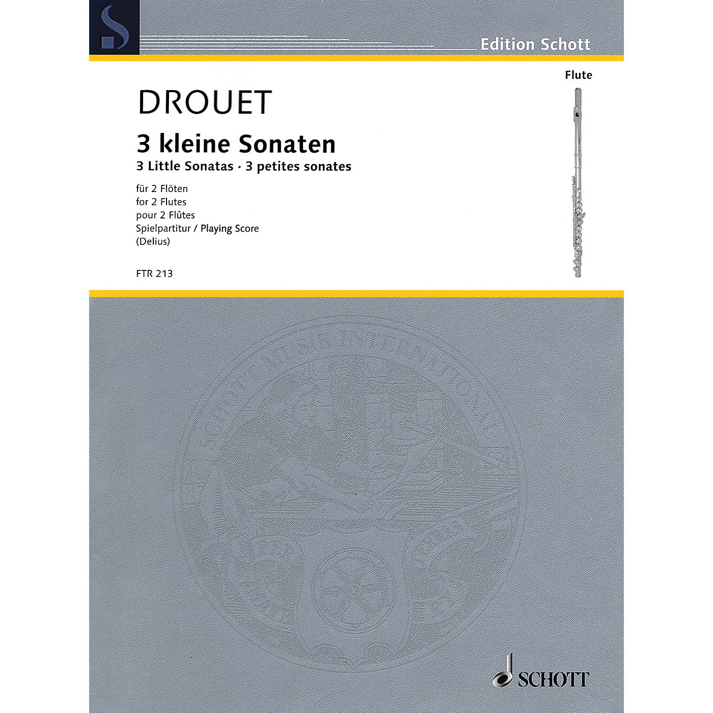 Hal Leonard 3 Little Sonatas (Performance Score) Schott Series Softcover Composed by Louis Drouet thumbnail