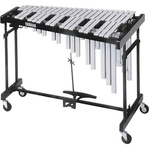 Yamaha 3-Octave Standard Silver Vibraphone with Cover-thumbnail