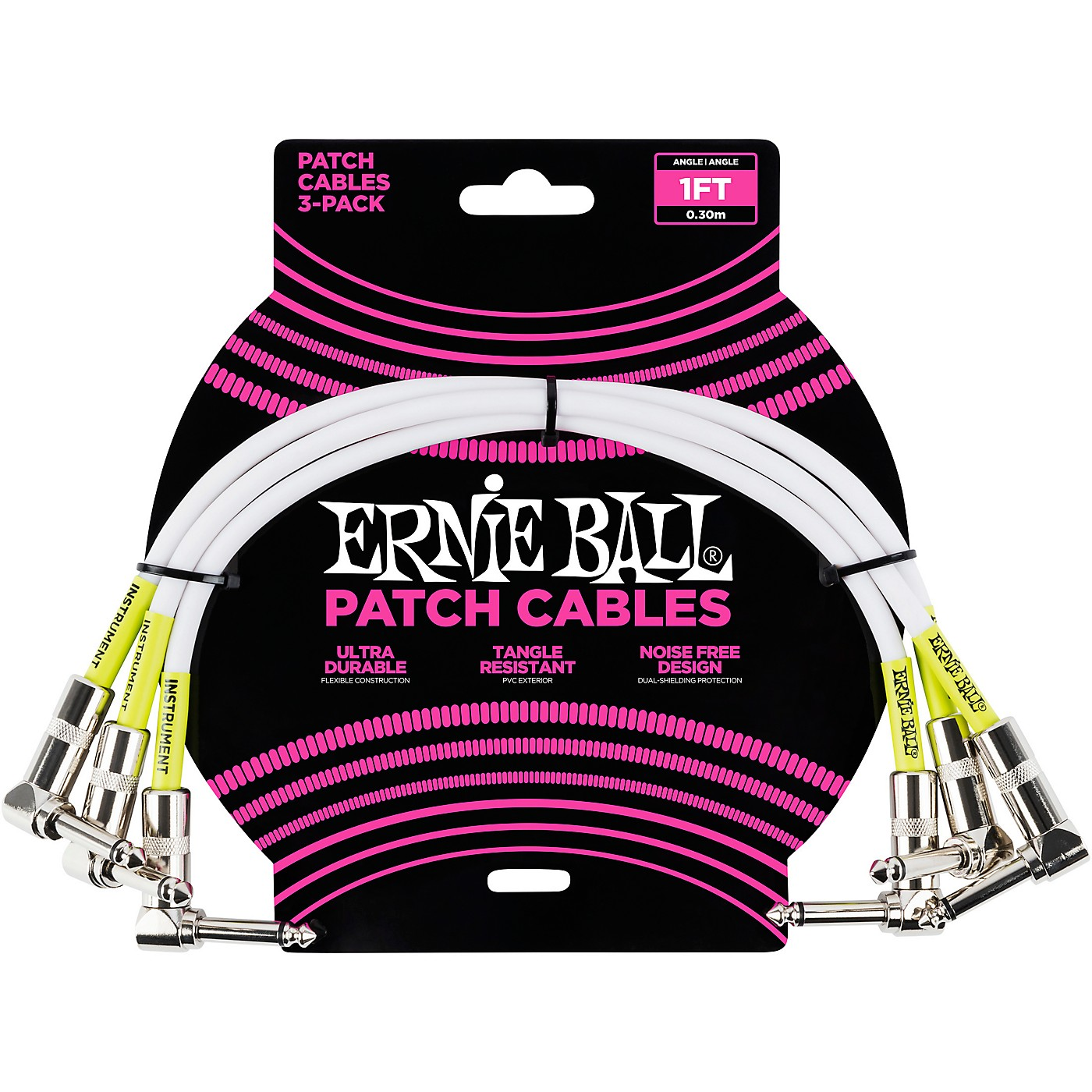 Ernie Ball 3-Pack Patch Cables thumbnail