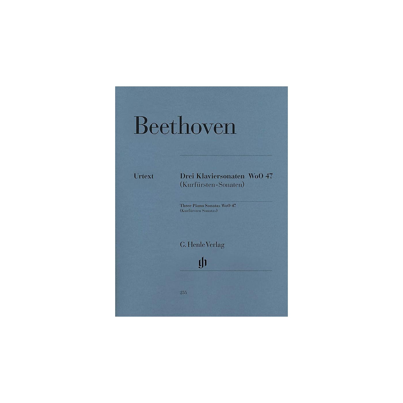 G. Henle Verlag 3 Piano Sonatas WoO 47 (Kurfürsten-Sonatas) Henle Music Folios Series Softcover thumbnail