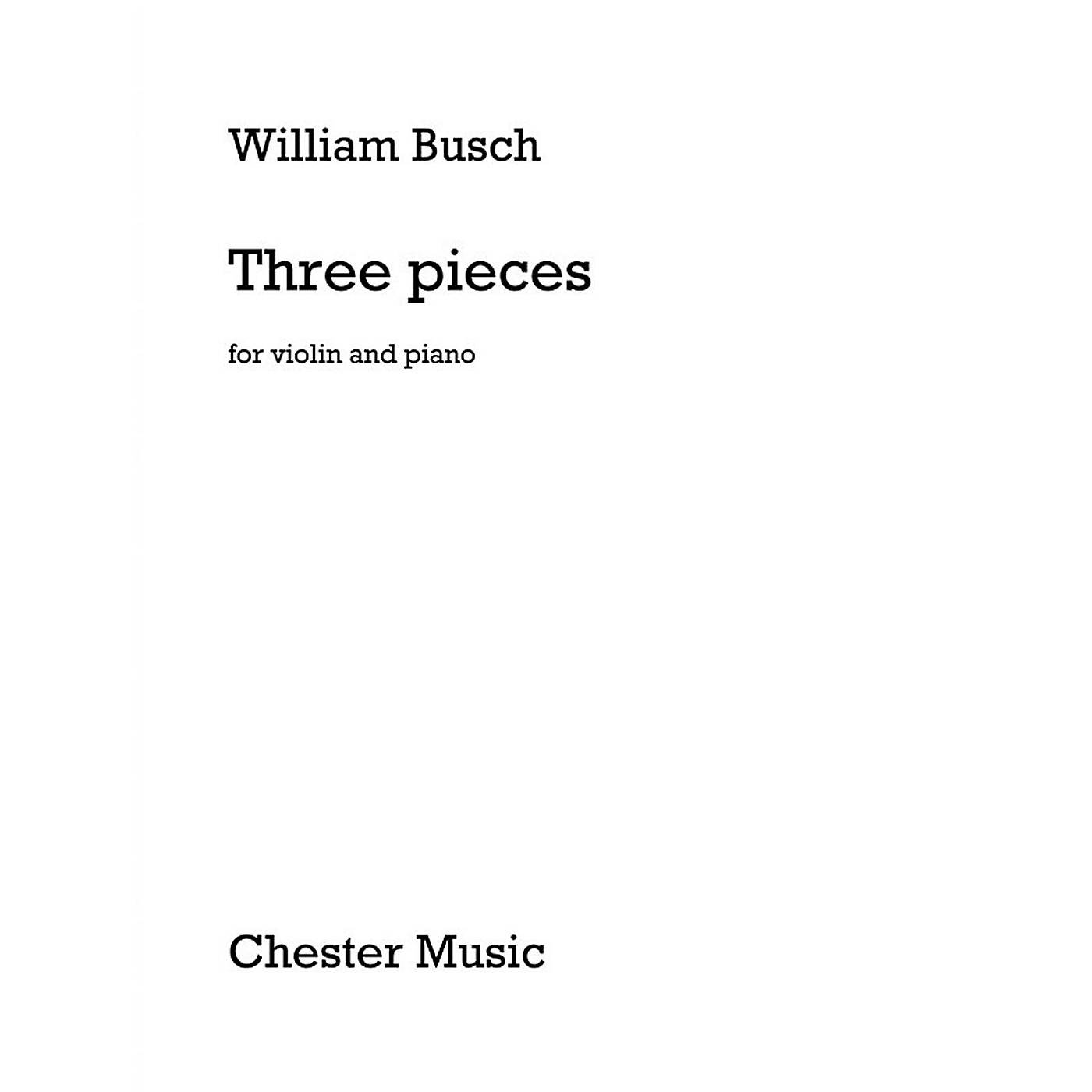 Chester Music 3 Pieces for Violin and Piano Music Sales America Series Softcover thumbnail