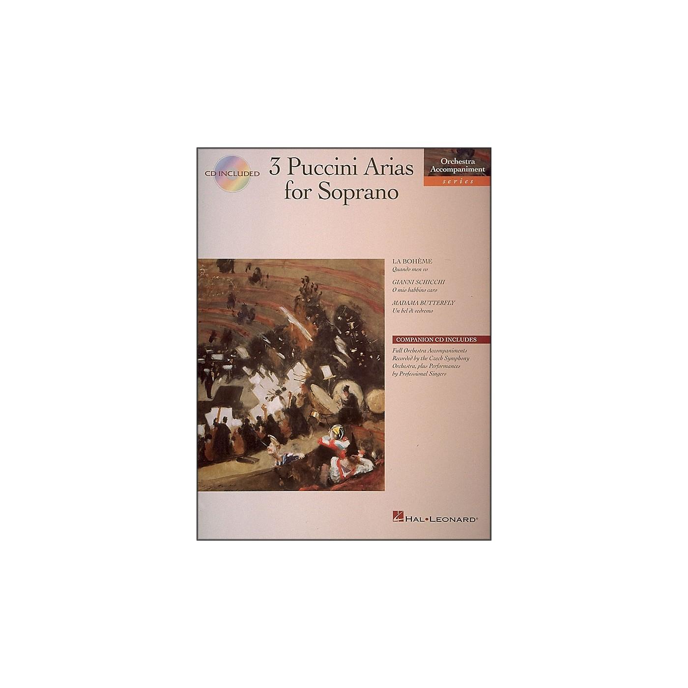 Hal Leonard 3 Puccini Arias for Soprano Book/CD Pkg thumbnail