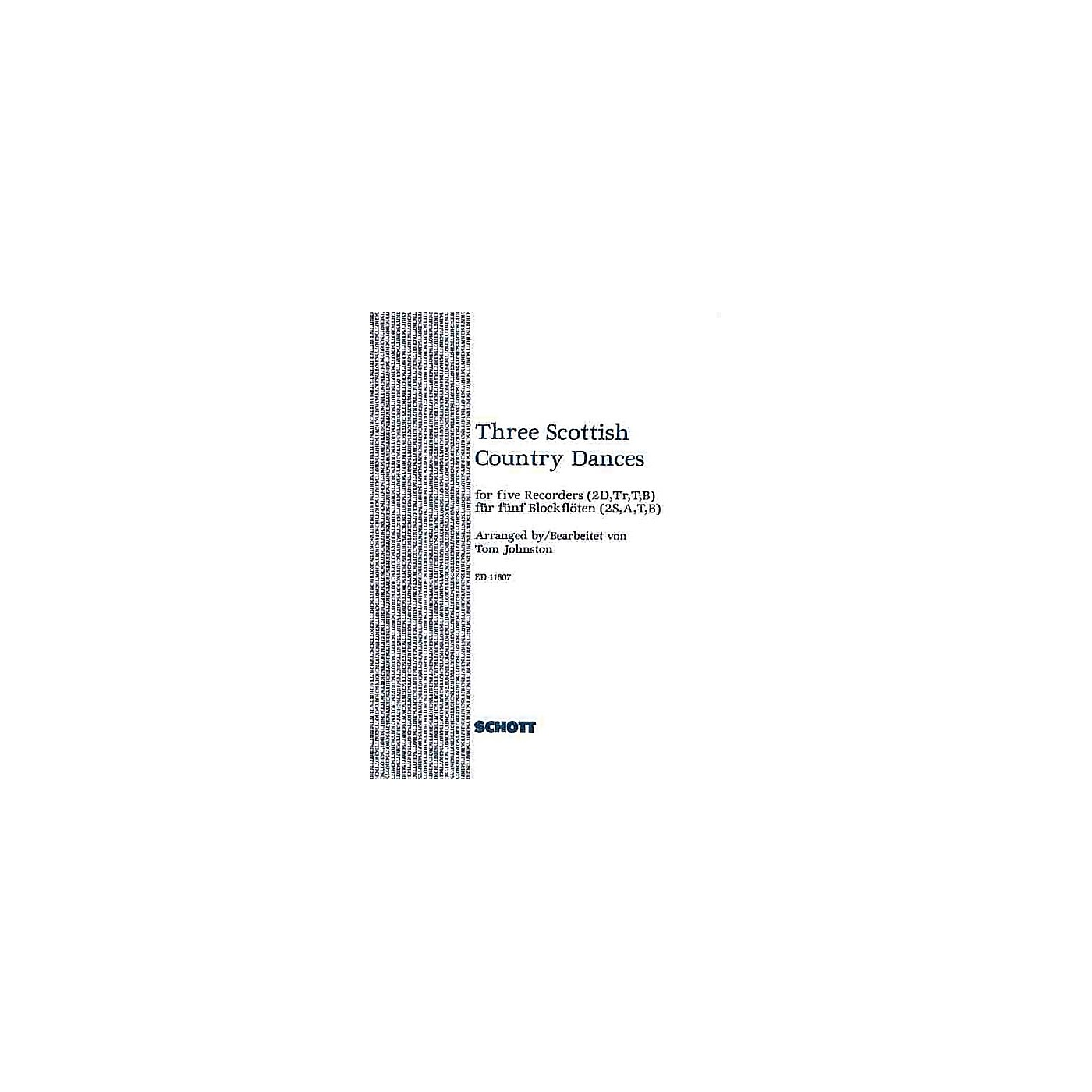 Schott 3 Scottish Country Dances (Score and Parts) Schott Series Arranged by Tom Johnston thumbnail