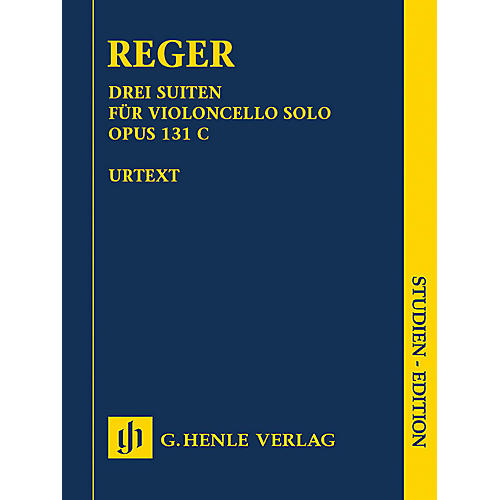 G. Henle Verlag 3 Suites for Violoncello Solo Op. 131c Henle Study Scores by Max Reger Edited by Wolf-Dieter Seiffert thumbnail