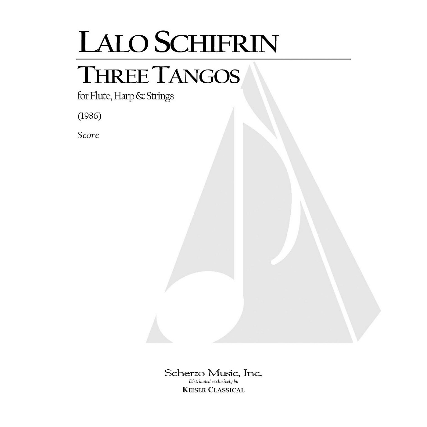 Lauren Keiser Music Publishing 3 Tangos for Flute, Harp and Strings LKM Music Series Composed by Lalo Schifrin thumbnail