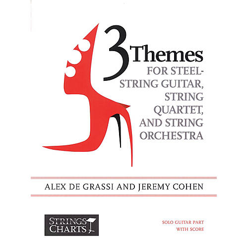 String Letter Publishing 3 Themes for Steel-String Guitar, String Quartet, String Orchestra: Intermediate Band Method by Cohen thumbnail