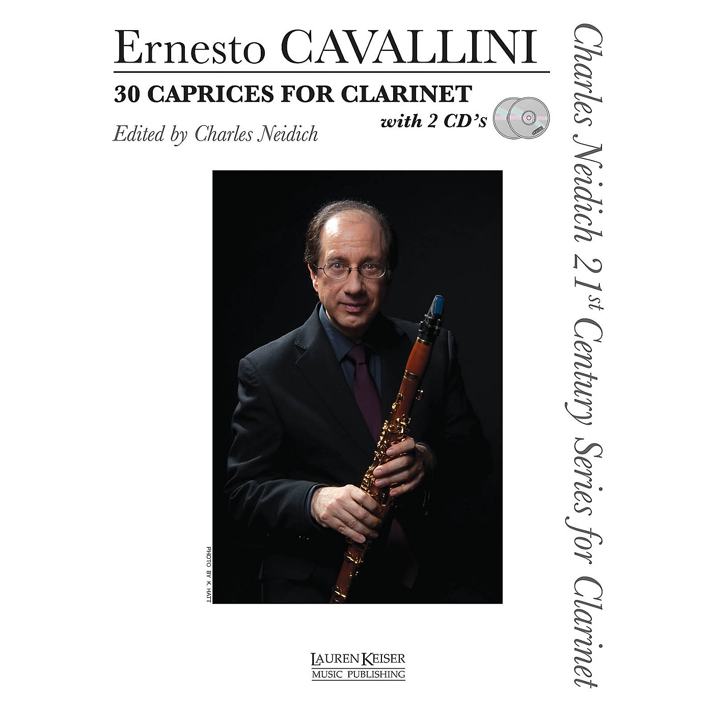 Lauren Keiser Music Publishing 30 Caprices for Clarinet LKM Music BK/Online Auido Composed by Ernesto Cavallini Edited by Charles Neidich thumbnail