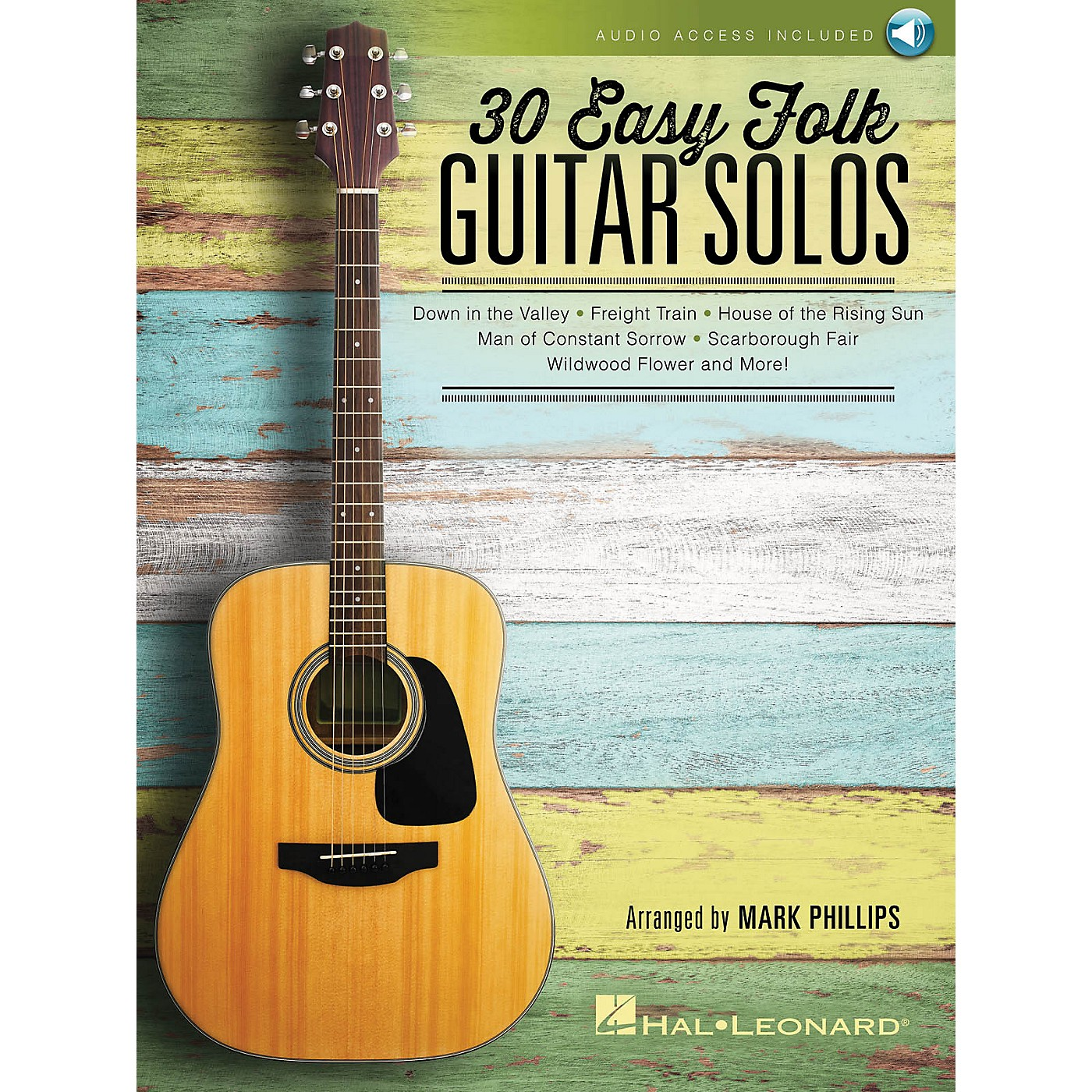 Hal Leonard 30 Easy Folk Guitar Solos Guitar Solo Series Softcover Audio Online Performed by Various thumbnail