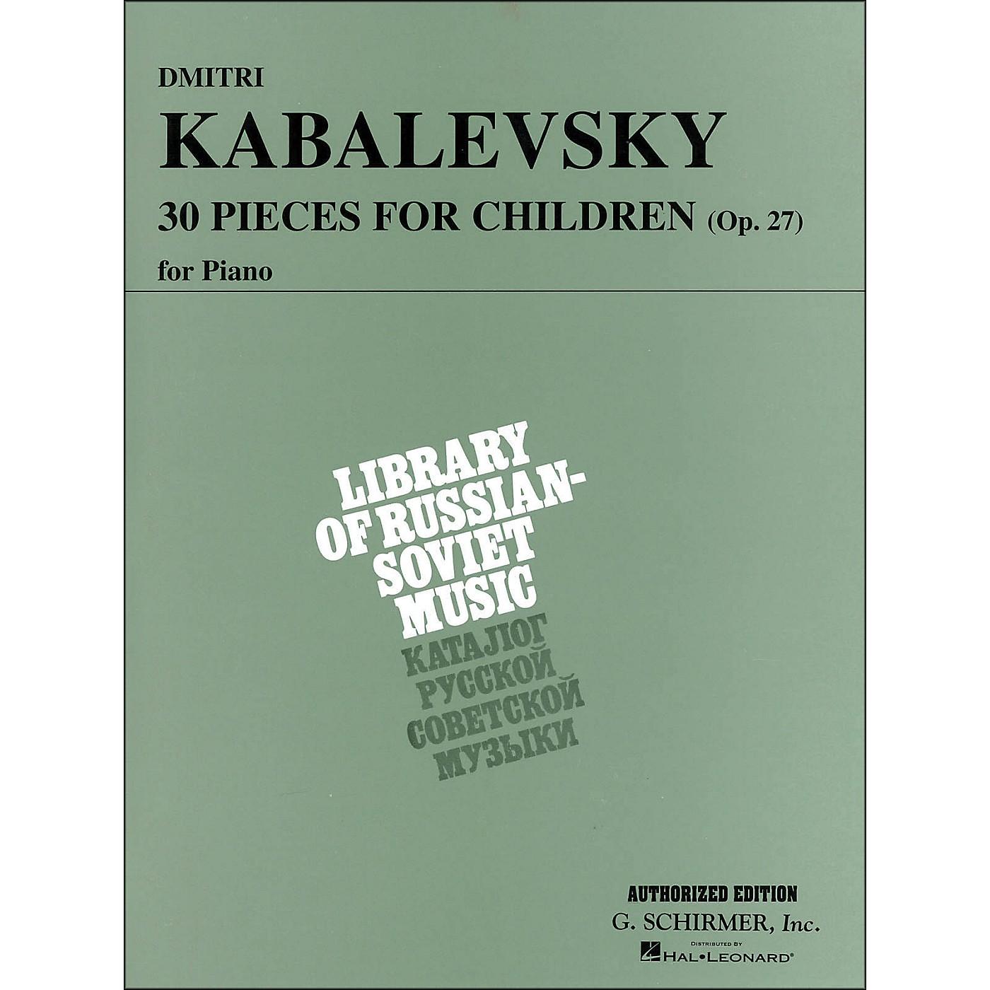G. Schirmer 30 Pieces for Children Op 27 Piano By Kabalevsky thumbnail
