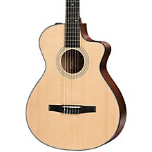 Taylor 300 Series 312ce-N Grand Concert Nylon String Acoustic-Electric Guitar