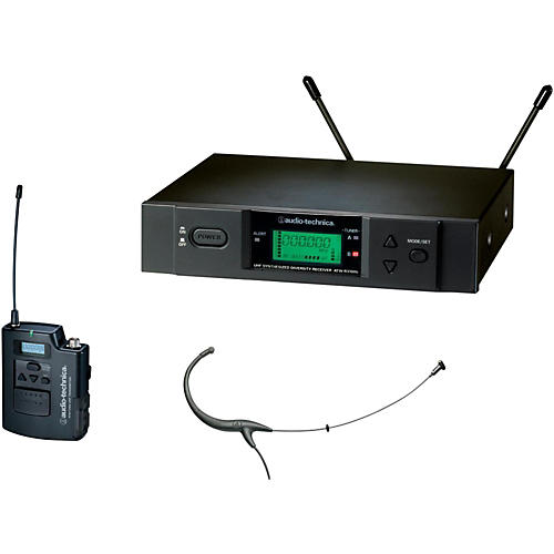 Audio-Technica 3000 Series Headworn Wireless Microphone System / C Band thumbnail