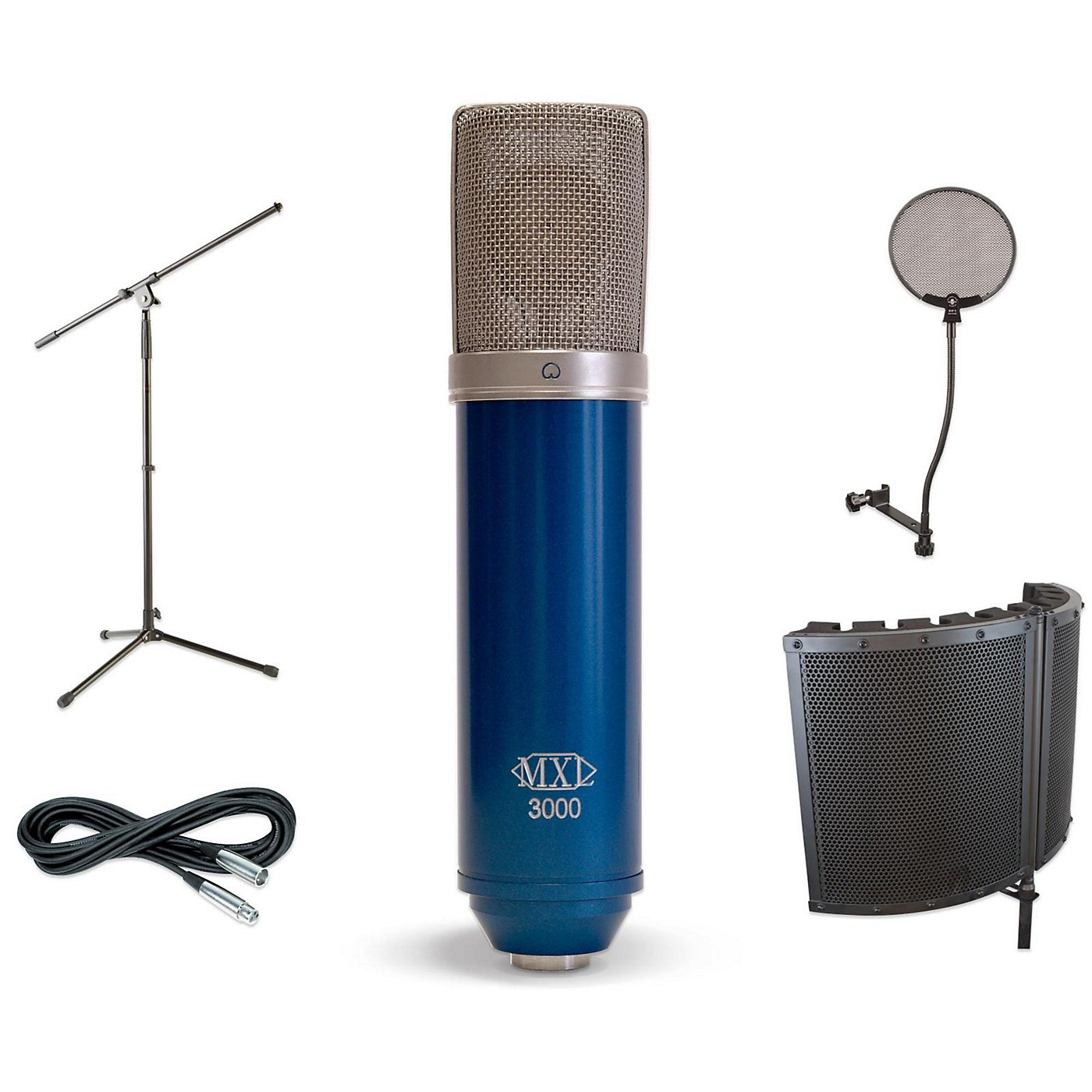 MXL 3000 VS1 Stand Pop Filter and Cable Kit thumbnail