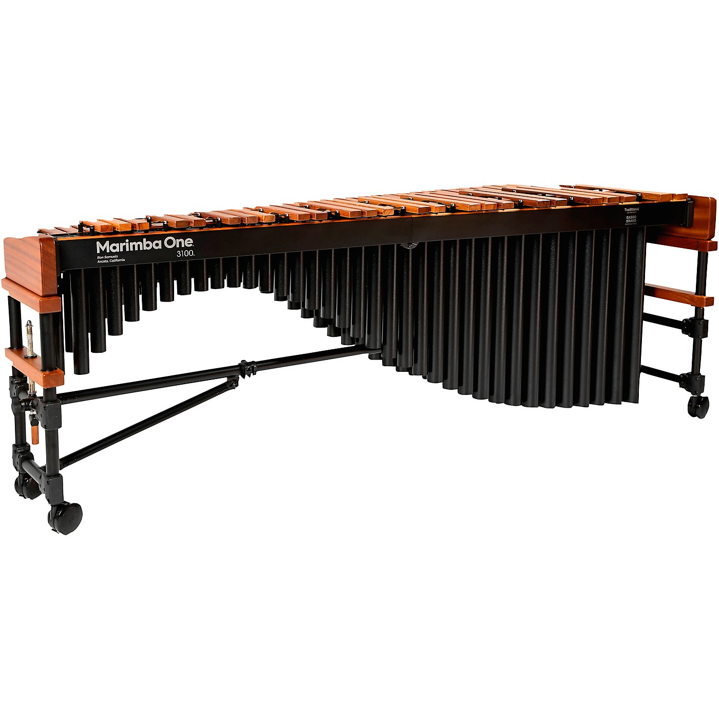 Marimba One 3100 #9304 A442 Marimba with Traditional Keyboard and Basso Bravo Resonators thumbnail