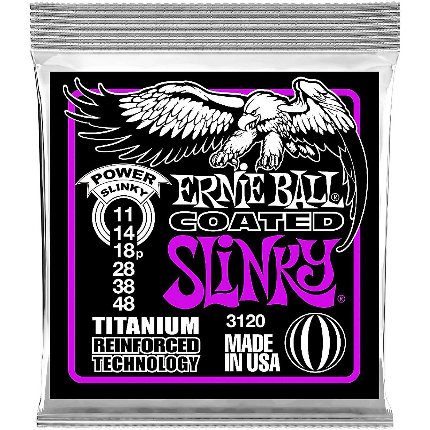 Ernie Ball 3120 Coated Titanium Power Slinky Electric Guitar Strings thumbnail