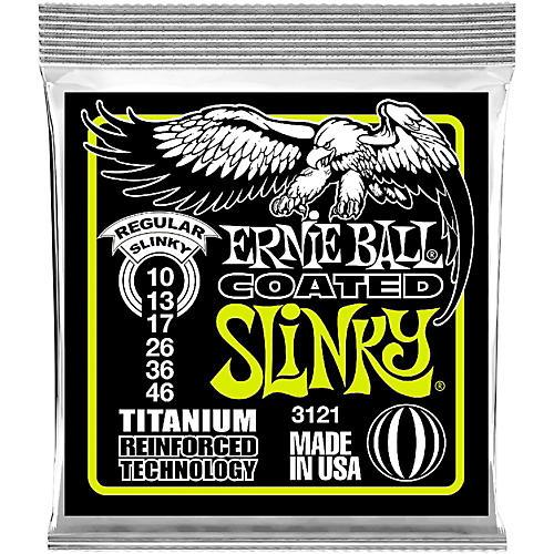 Ernie Ball 3121 Coated Titanium Slinky Electric Guitar Strings thumbnail