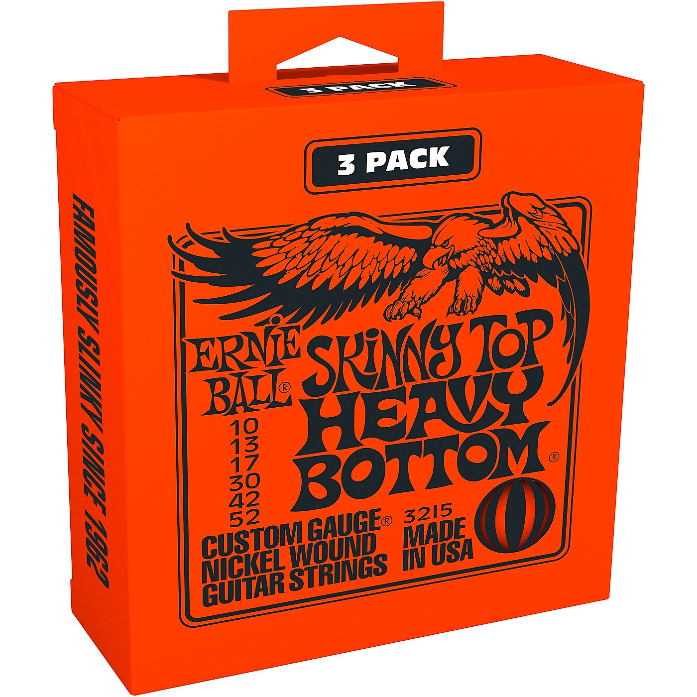 Ernie Ball 3215 Nickel Skinny Top/Heavy Bottom Electric Guitar Strings 3-Pack thumbnail