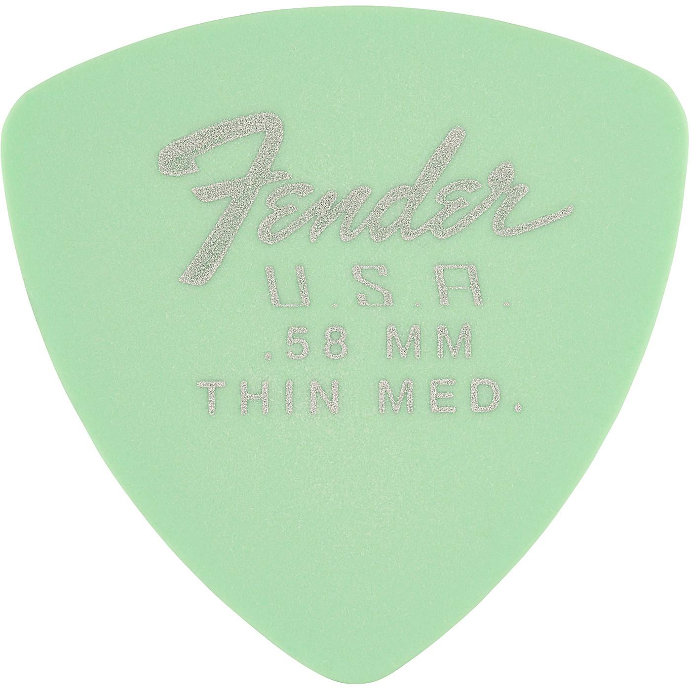 Fender 346 Dura-Tone Delrin Pick (12-Pack), Surf Green thumbnail