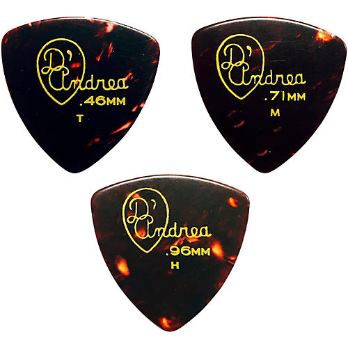 D'Andrea 346 Rounded Triangle Celluloid Guitar Picks - One Dozen thumbnail