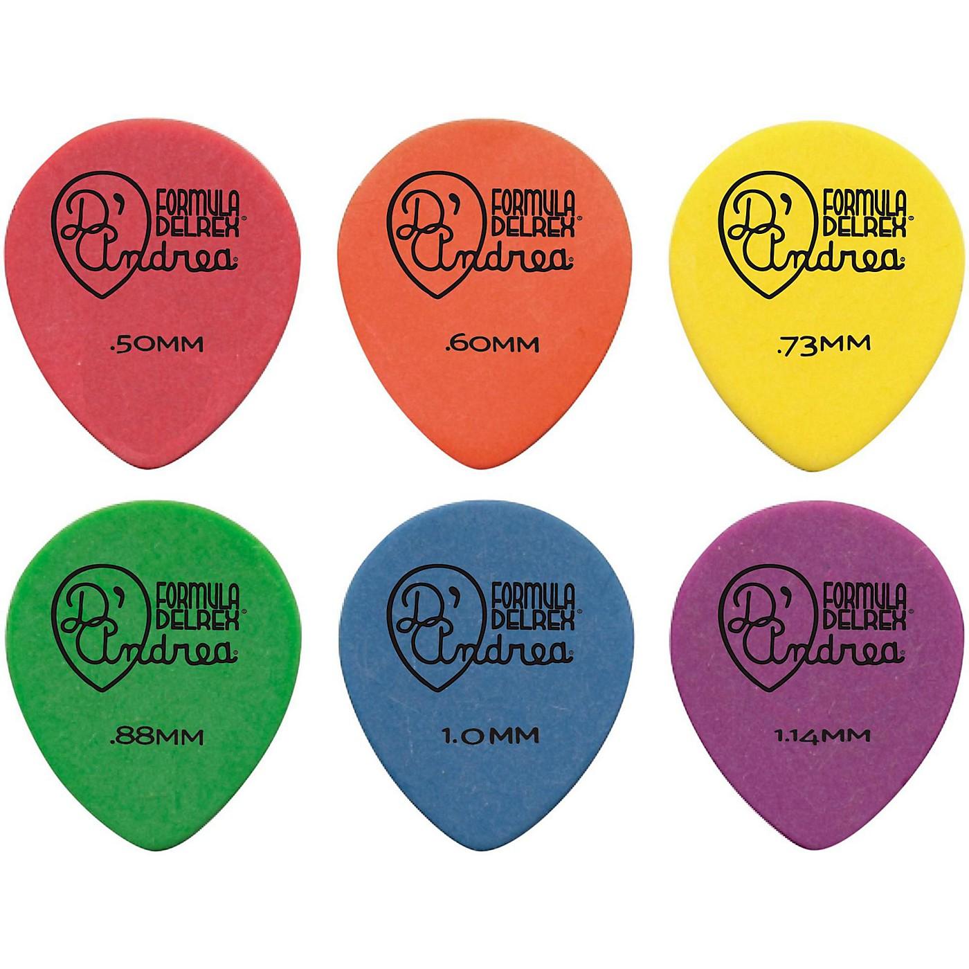 D'Andrea 347 Rounded Teardrop Delrex Delrin Guitar Picks - One Dozen thumbnail